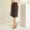 Hurd Check Button Skirt