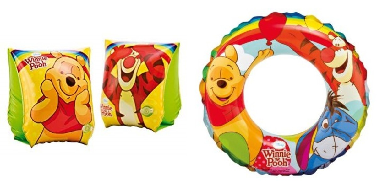 Winnie the Pooh Swimming Package (Armbands + Swimming Ring) Individual Packing
