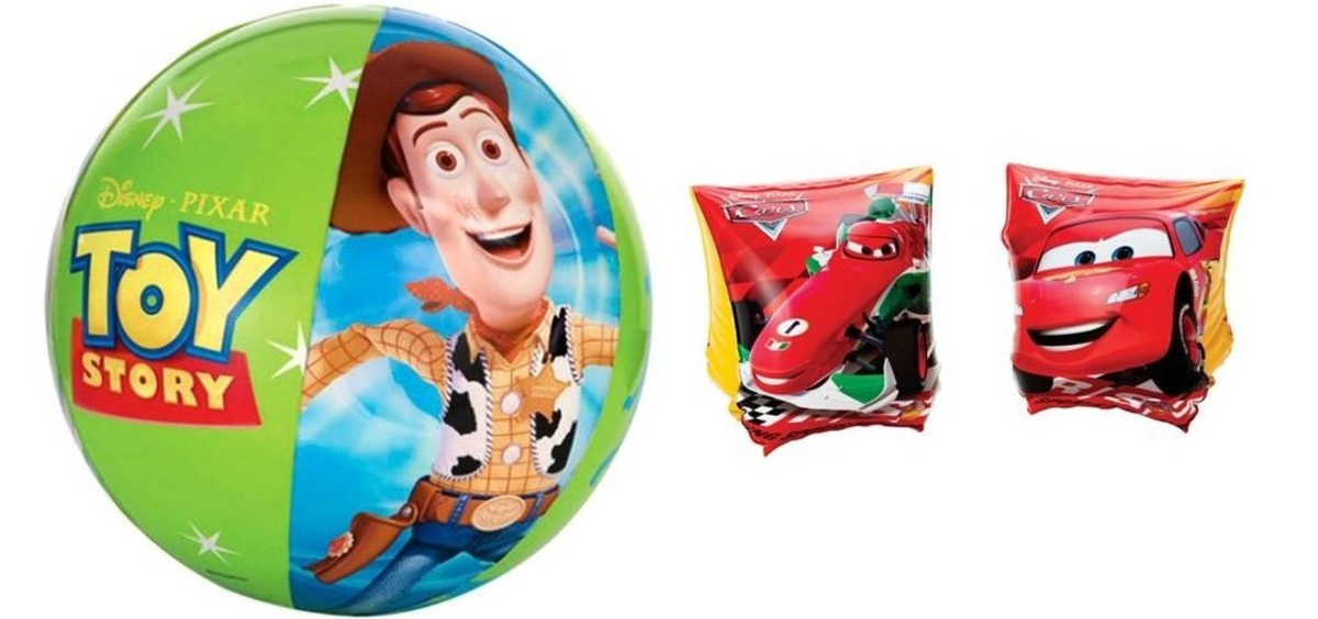 Disney Combine Package 3 (Toy Story Beach Ball + Cars Armbands) Individual Packing