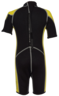Kid's 3.5mm Thermal Suit, Colour: Black / Yellow, Size: 10