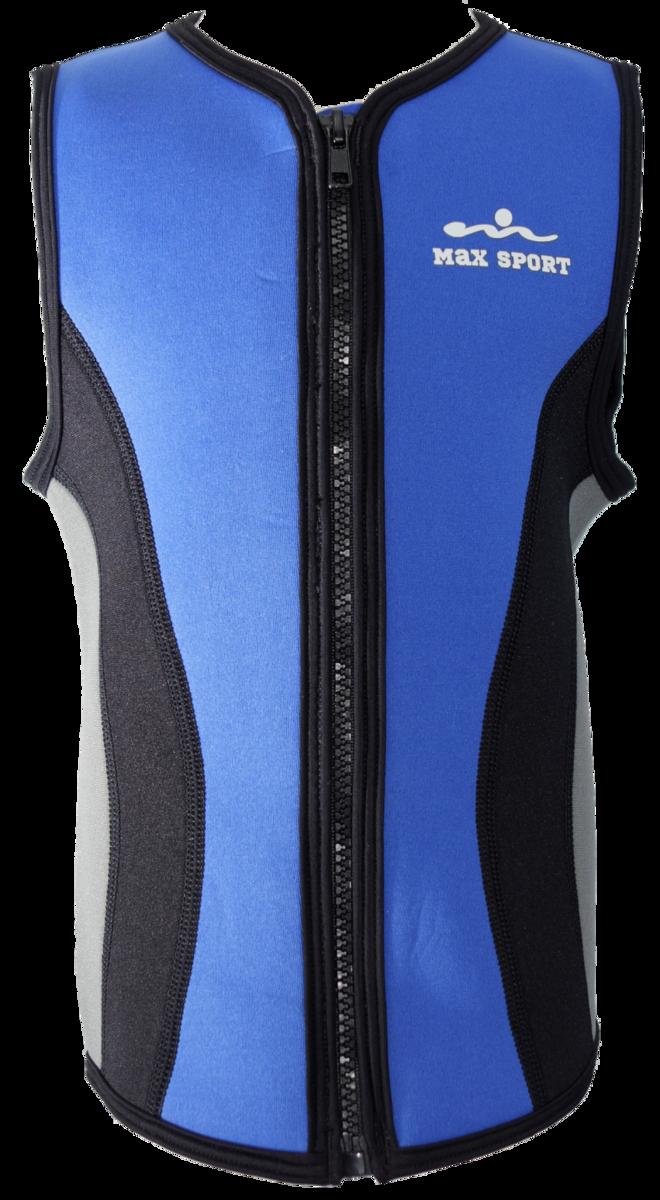 Kid's 2.5mm Neoprene Vest, Colour: Blue / Black, Size: 10