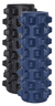 Massage Foam Rollers, 2 pieces, black and blue, Hardness 55 and 65, 12.5cm x 32cm