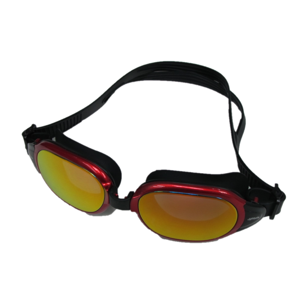 [MS-8700MR] High Quality Silicone Anti-Fog UV Protection Black/Red Reflective Swimming Goggles