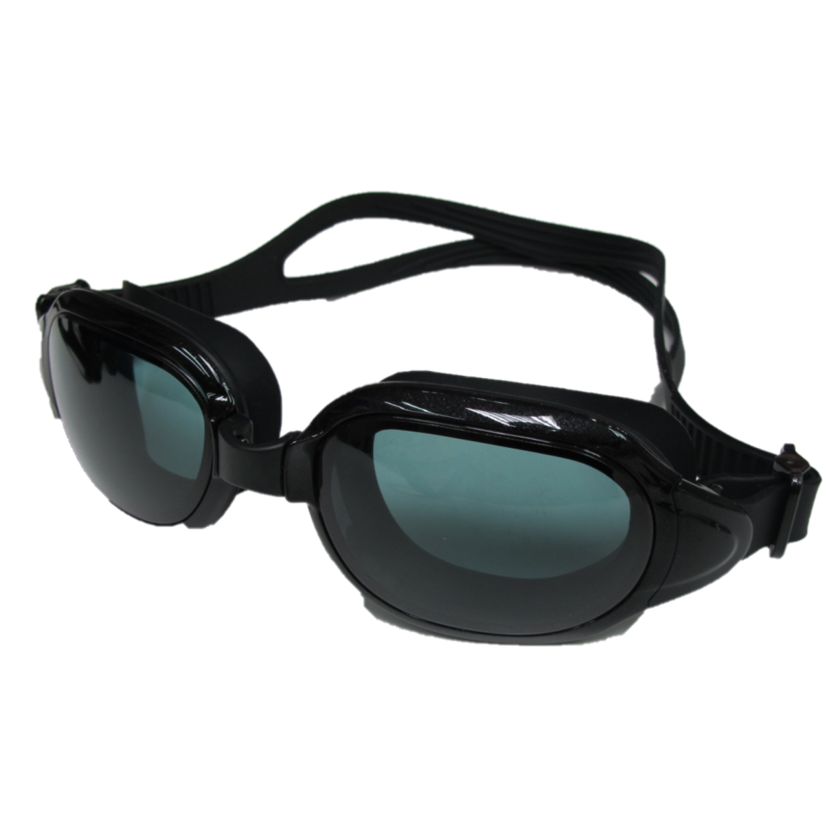 [MS-8700] High Quality Silicone UV Protection Anti-Fog Black Swimming Goggles