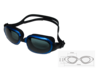 [MS-8700]高級矽膠 防霧 防UV 黑/藍色泳鏡