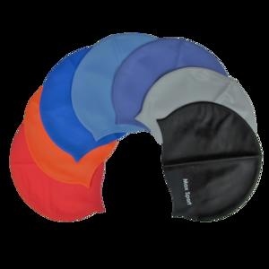 【贈品】矽膠泳帽 (顏色隨機出貨)|防黏髮、不易入水