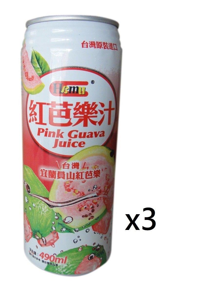 紅芭樂汁飲料 490ml (3罐裝)
