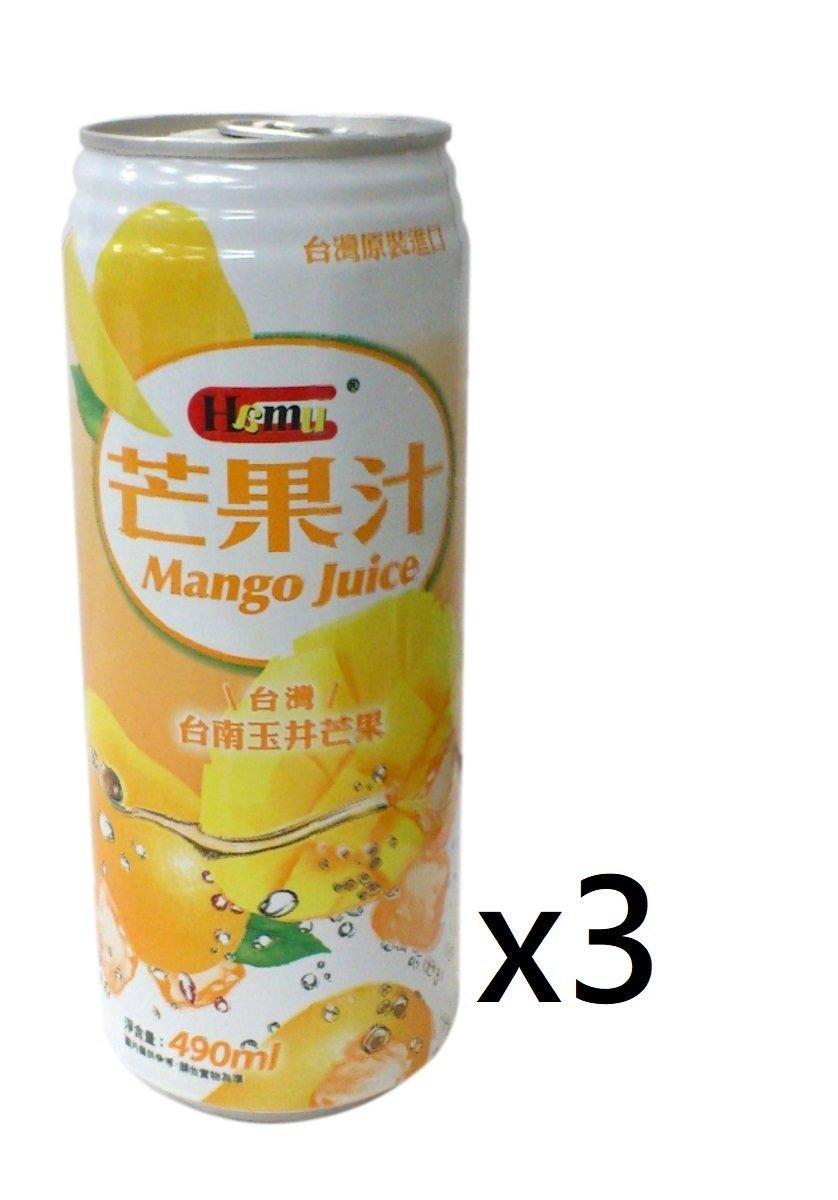 芒果汁飲料 490ml (3 罐裝)