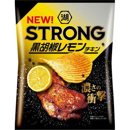 湖池屋| F15130_6 STRONG 黑胡椒檸檬雞味薯片56g x(6包裝) | HKTVmall 香港最大網購平台