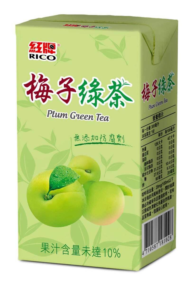 梅子綠茶 300ml (6包裝)