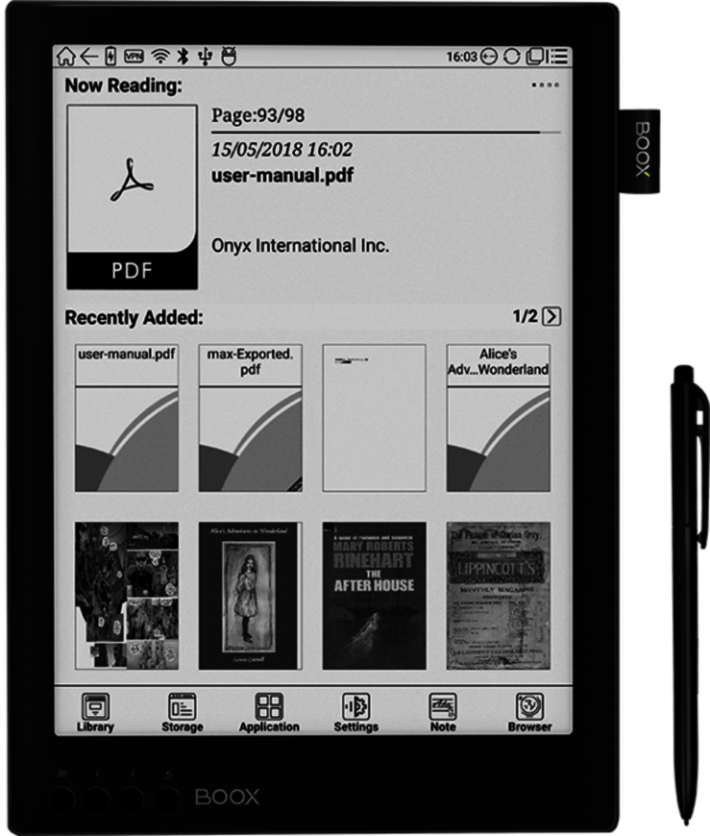BOOX Max2 E-reader (Support PDF, Andorid System)