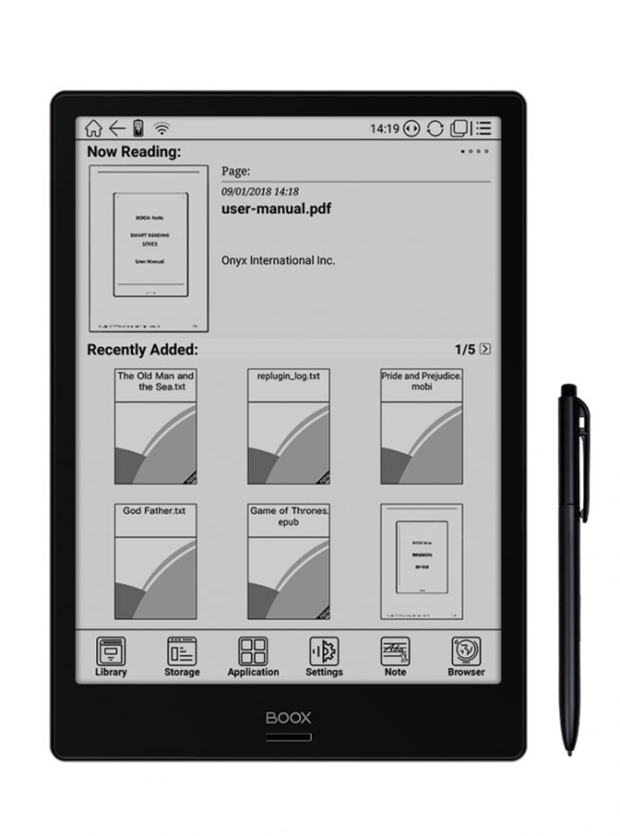 BOOX Note E-reader (Support PDF, Andorid System)