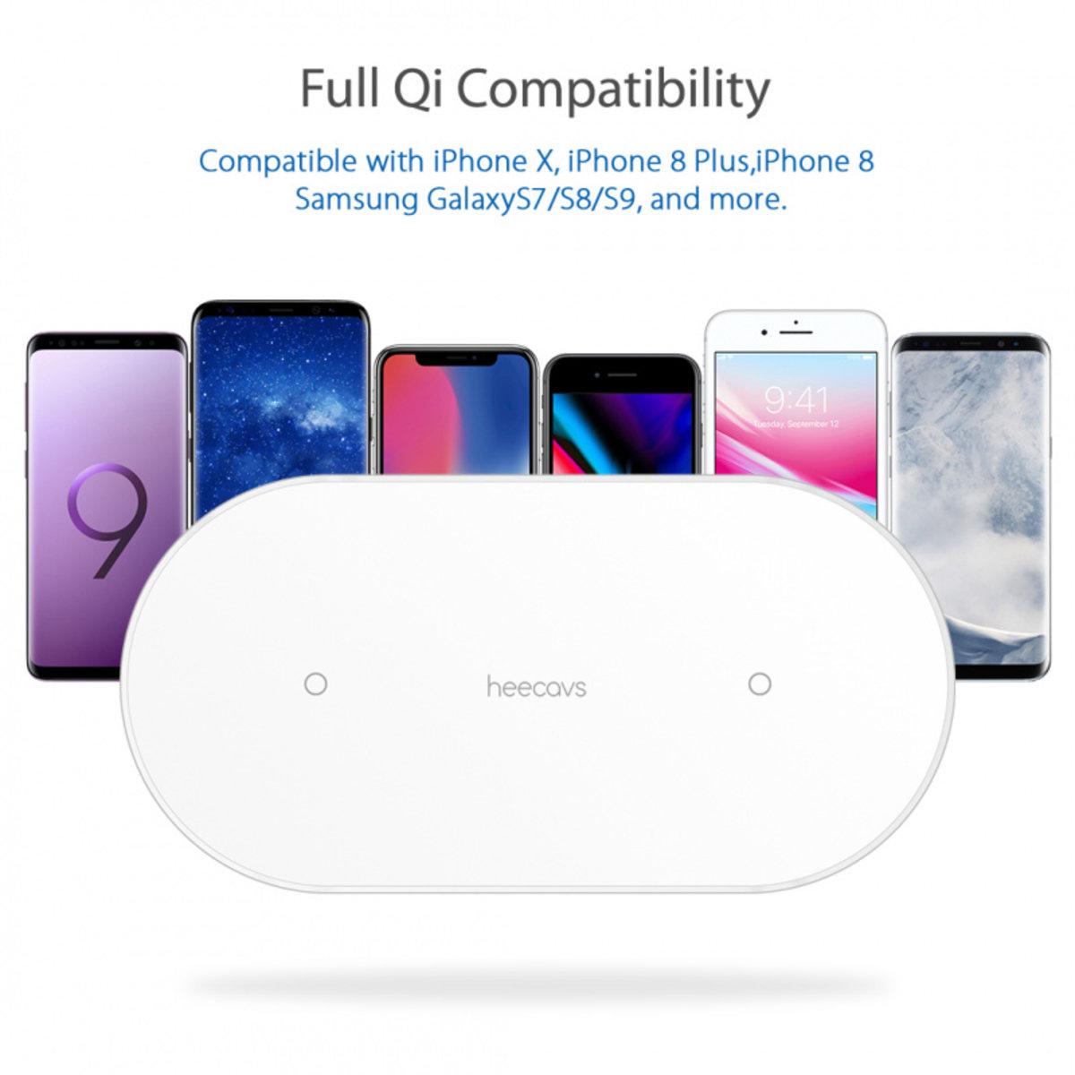 Heecavs HB301 雙頻快充無線充電器 (適合 7.5W Apple, 10W Samsung)