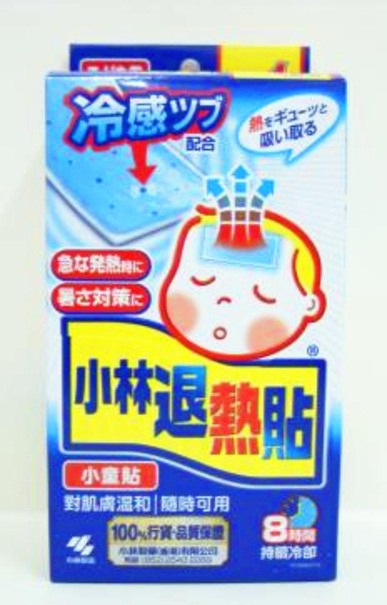 Kobayashi Pharma Baby Antipyretic Sticker 12+4 Pack (for normal skin)