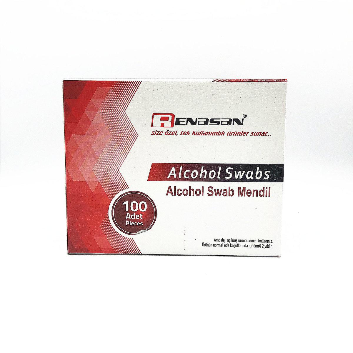 renasan alcohol swab 消毒酒精綿 100片 (異丙醇 70%) (土耳其)