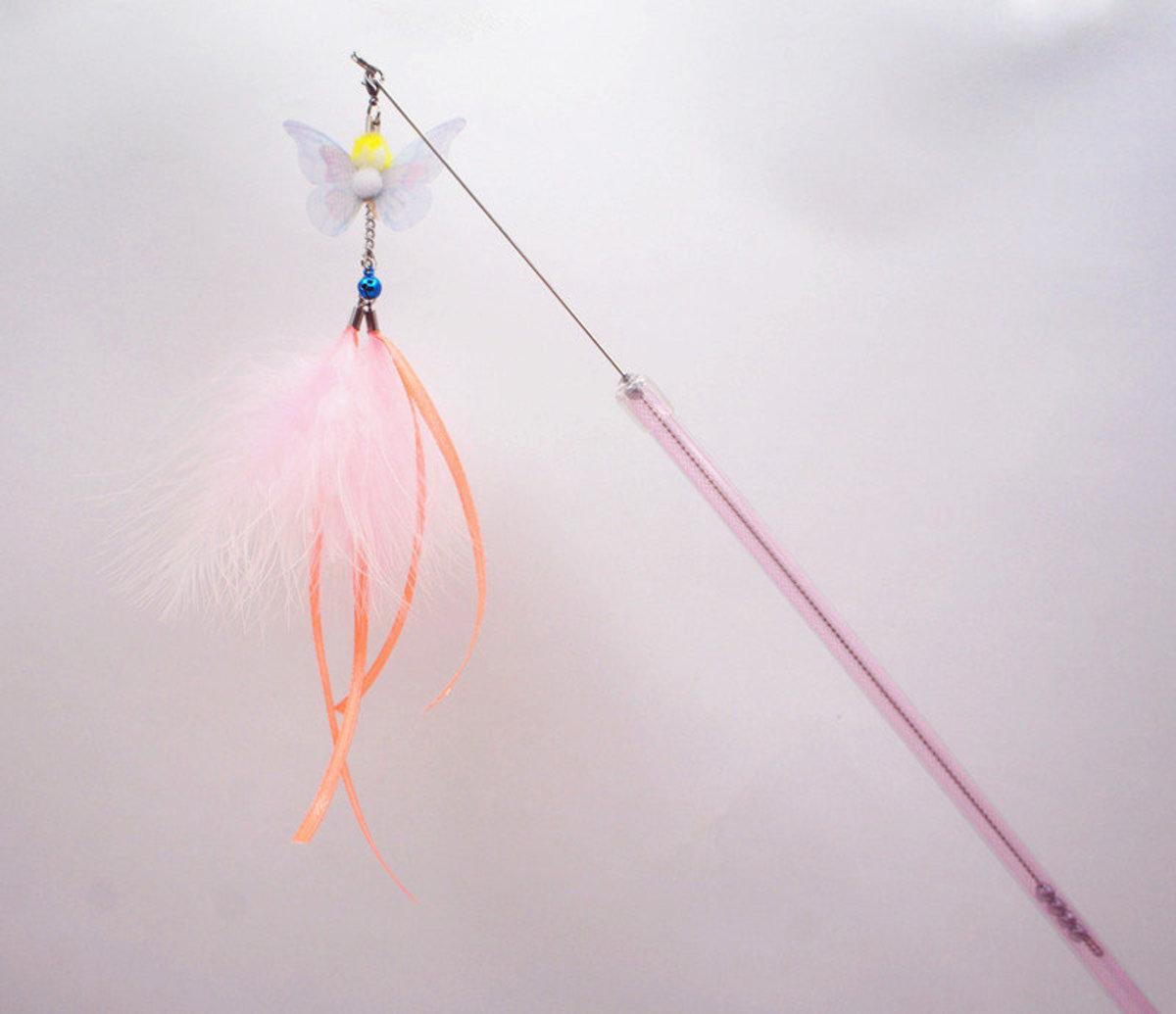 AT-3767 可伸縮系列逗貓棒-粉色