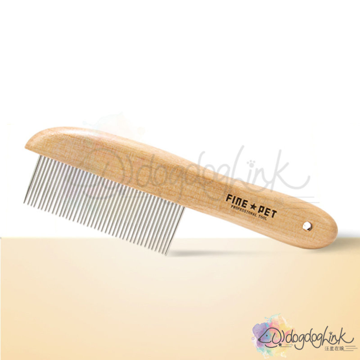 FINEPET Wooden Finishing Comb - 41pin 16*1.6cm