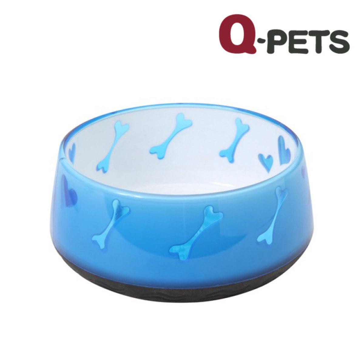 天藍骨形圖案防滑碗600ML