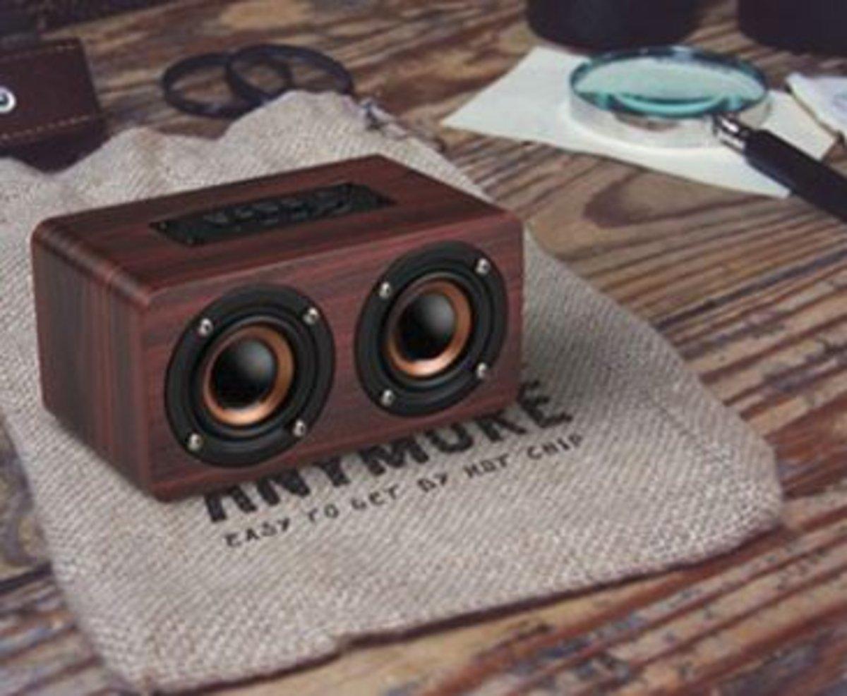 木質無線藍牙KTV音箱 W5 (顏色隨機)