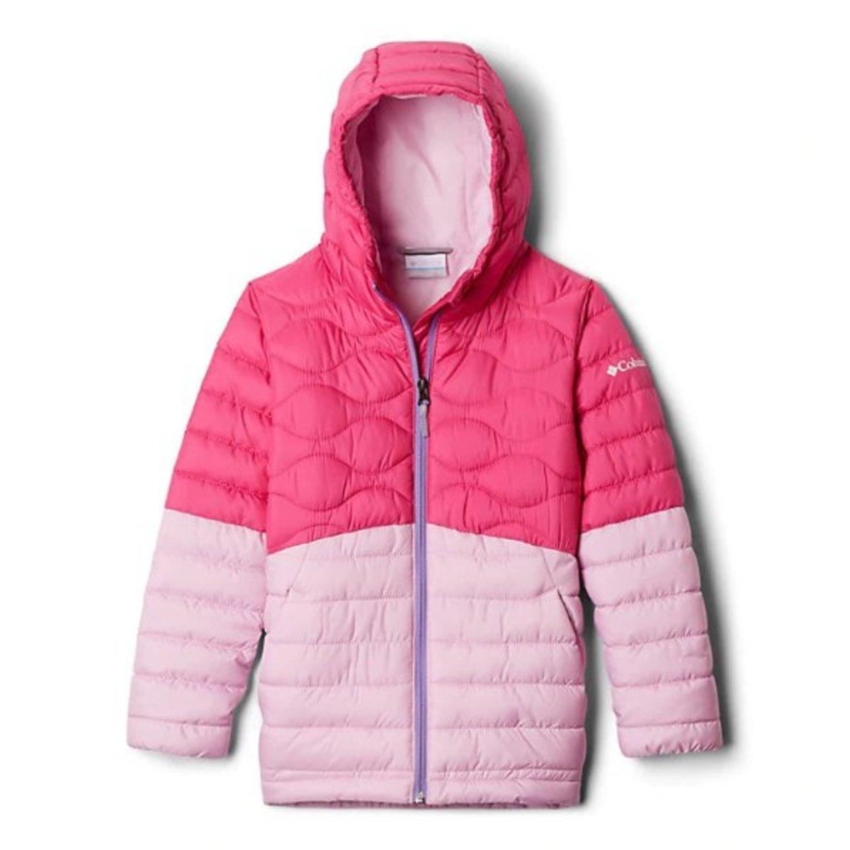 女童Humphrey Hills™羽絨夾克 - 粉紅拼色