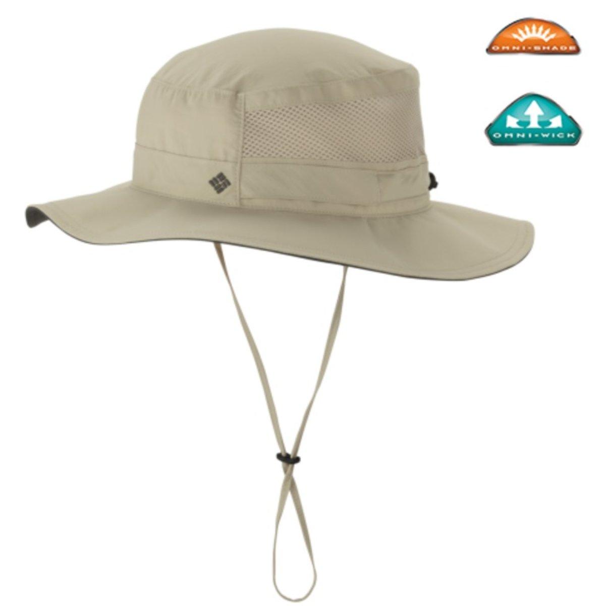 奧米速乾‧UPF50 防紫外線戶外運動太陽帽 Bora Bora Booney- Fossil 米色
