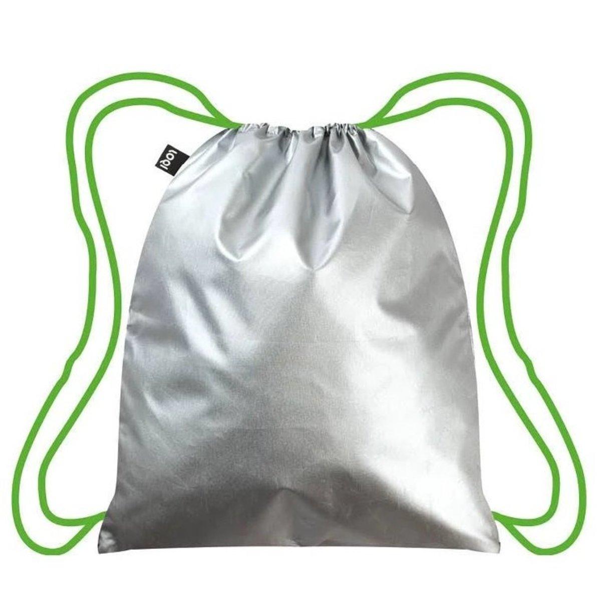 環保索帶背包 –METALLIC Silver 銀色