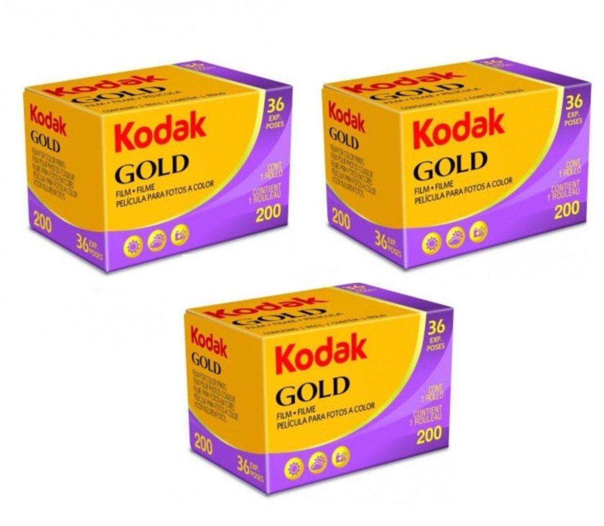 GOLD 200 度 彩色 35mm 36 張 菲林 (3卷)