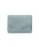 皮革三折迷你錢包 LJ-C2451 灰藍色