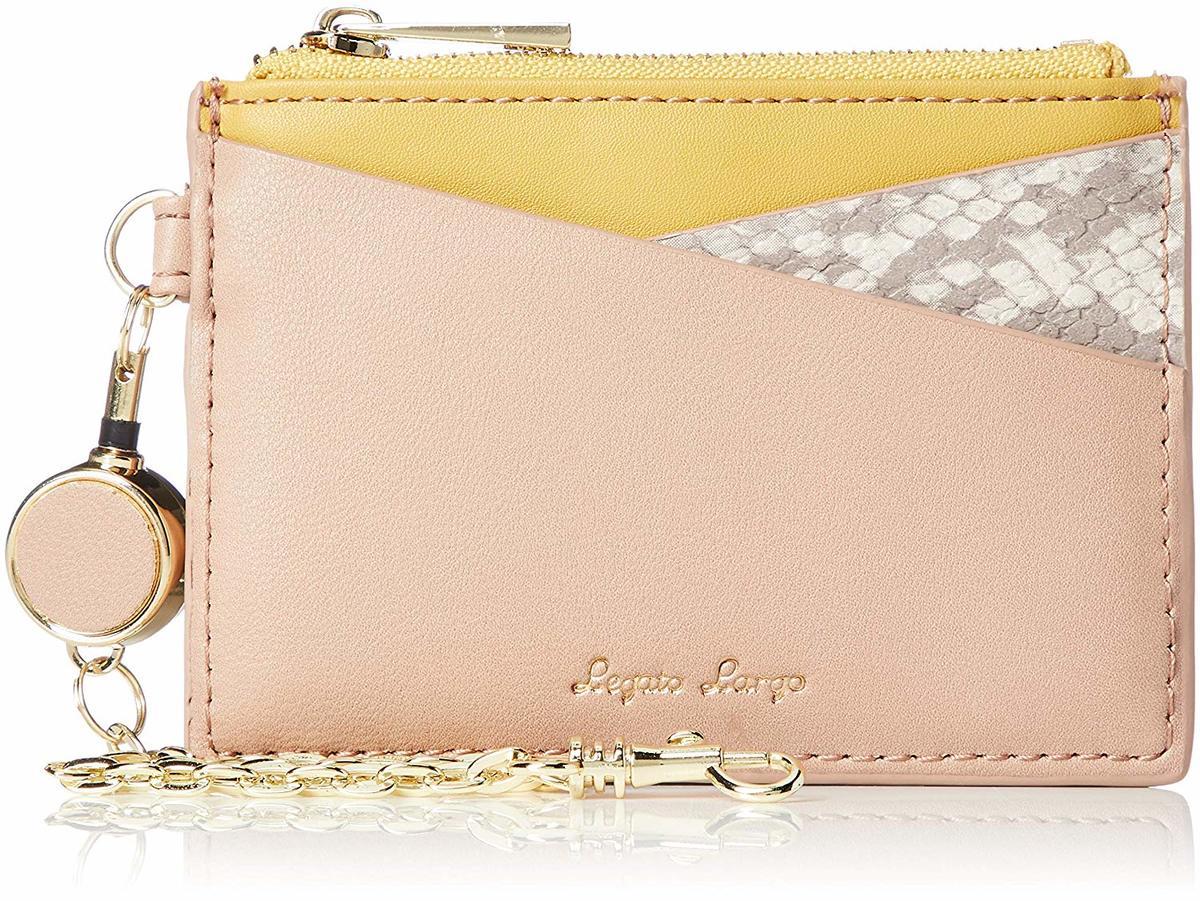 Mixed Color three-fold Mini Wallet LJ-G0793 Beige