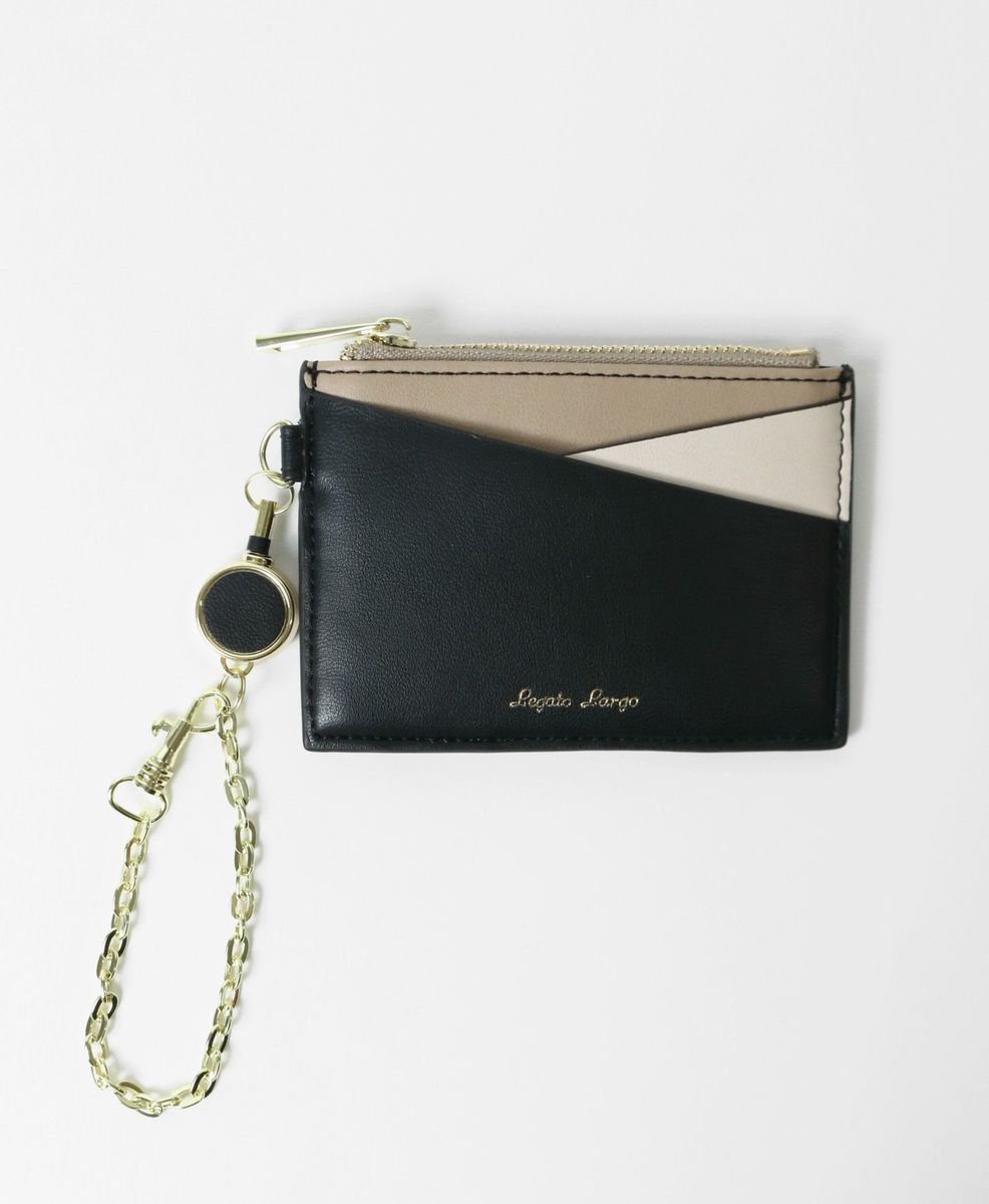 Mixed Color three-fold Mini Wallet LJ-G0793 Black