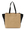 A4 size Leather Tote Bag LU-M0801 Black x Beige