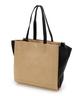 皮革A4 size 手提袋 LU-M0801 黑色/杏色