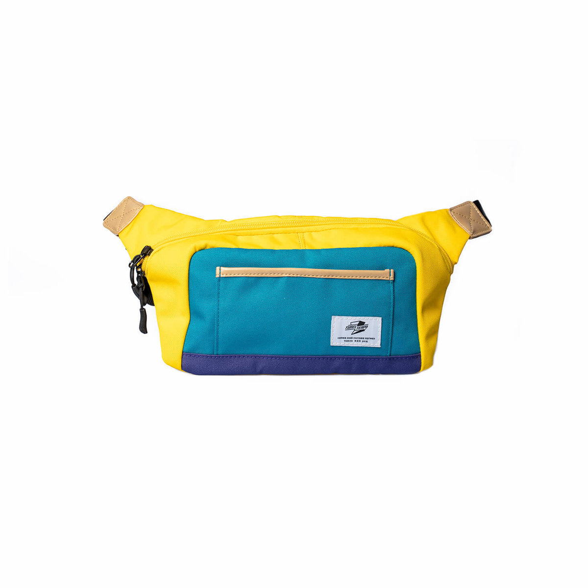 Tunnel Tempo Daily fresh street snap yellow-blue contrast color cross body bag