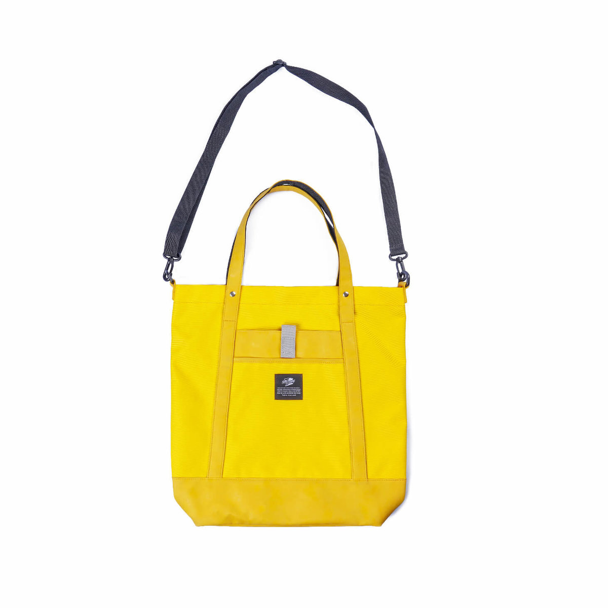 Tunnel Tempo Japanese simple vitality yellow / black portable diagonal DOUBLE-USE bag