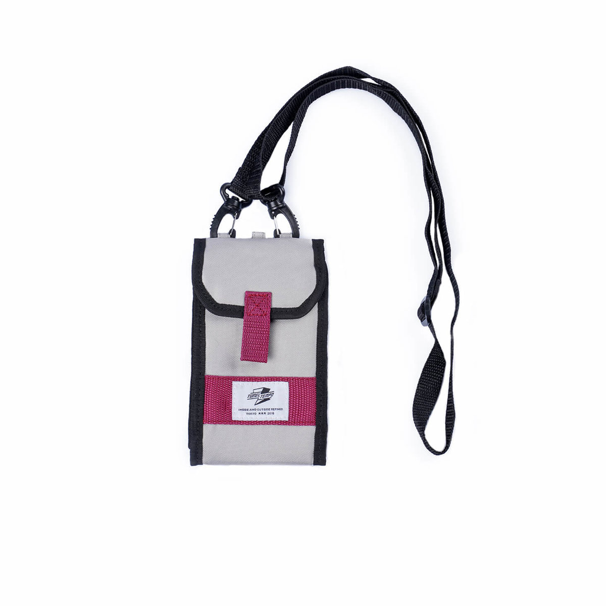 Tunnel Tempo Japanese tide CROSS BODY BAGS conventional shape (GREY)