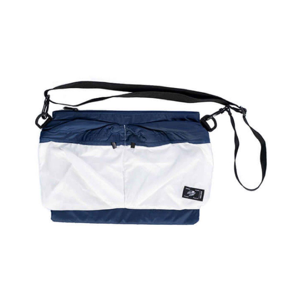Tunnel Tempo Japanese Cross Body Bag messenger bag ( blue-white )