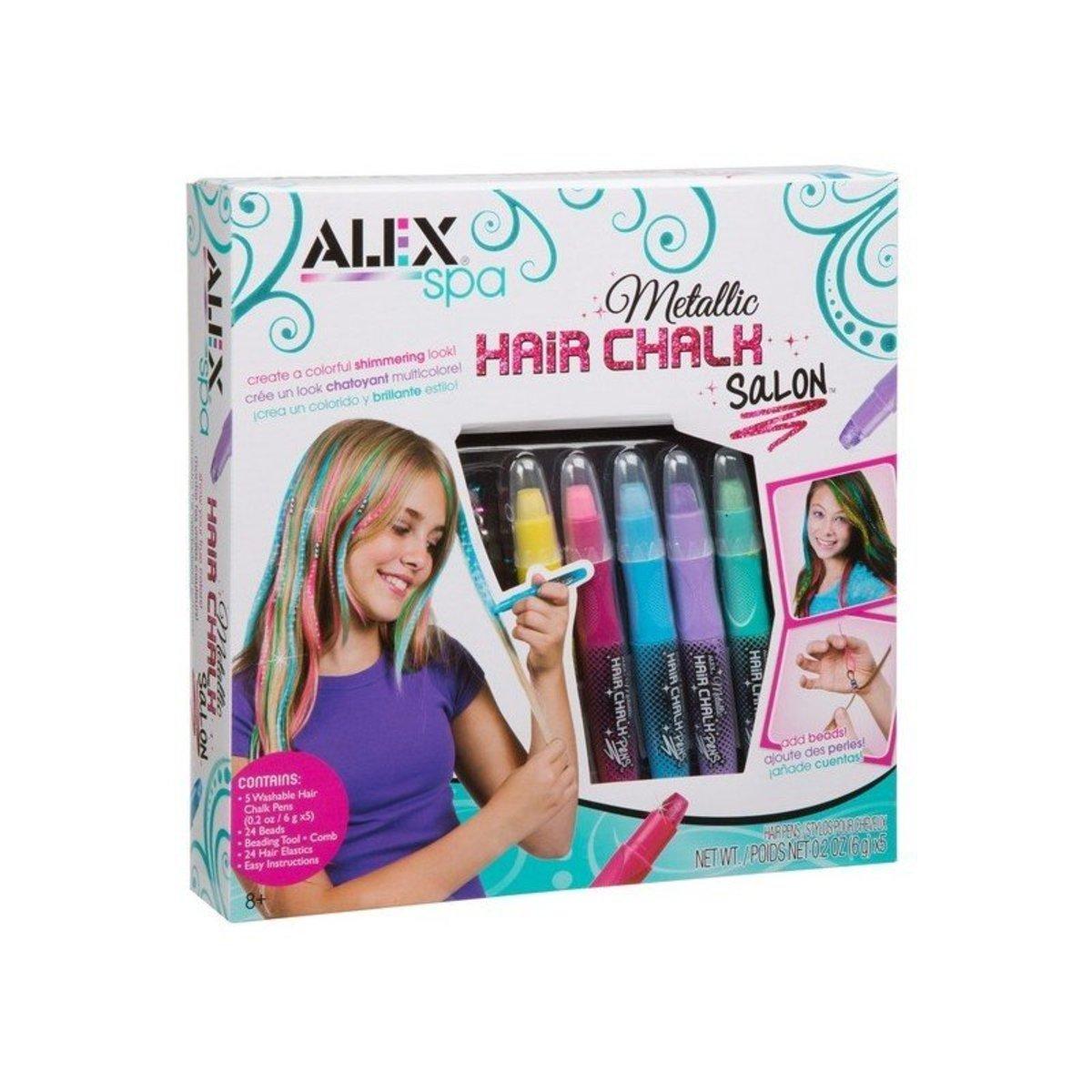 可洗染髮筆及髮飾套裝 - 金屬色