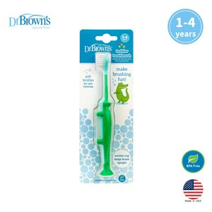 Dr. Brown's 小童軟毛吸盤牙刷 - 小鱷魚