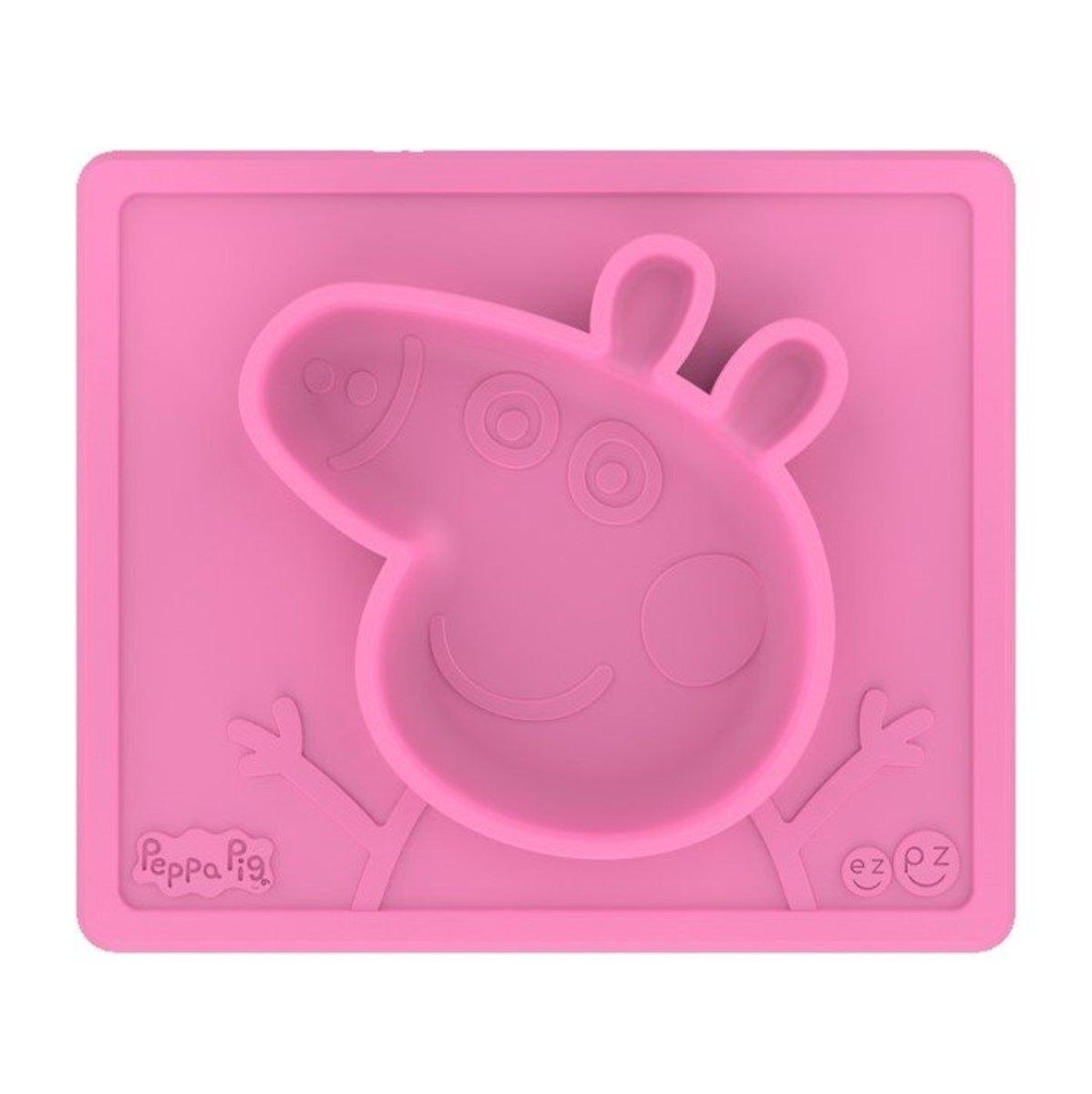 限量版 PEPPA PIG 造型枱墊+分隔碟 BLW 嬰兒主導進食 加固 餐墊