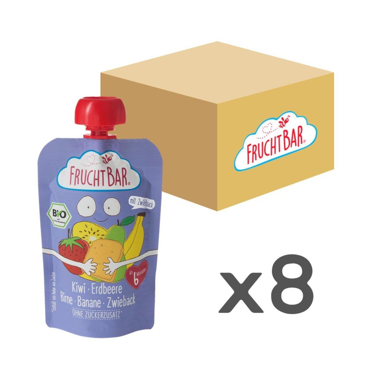 [原箱] 有機穀物果蓉 - 奇異果草莓脆餅 100g x8