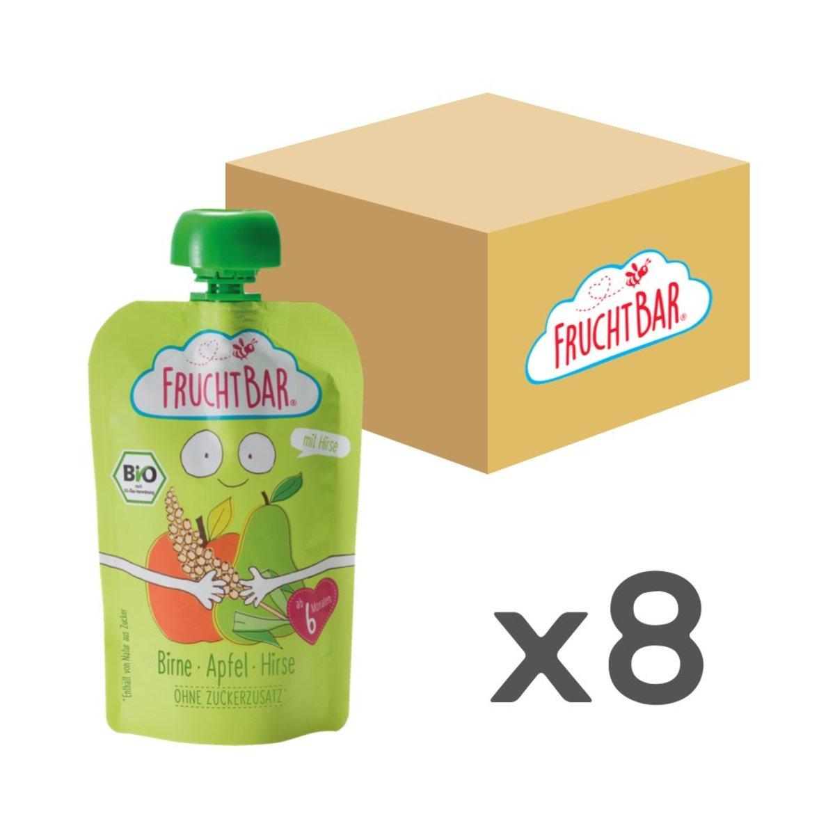 [原箱] 有機穀物果蓉 - 啤梨蘋果小米 100g x8