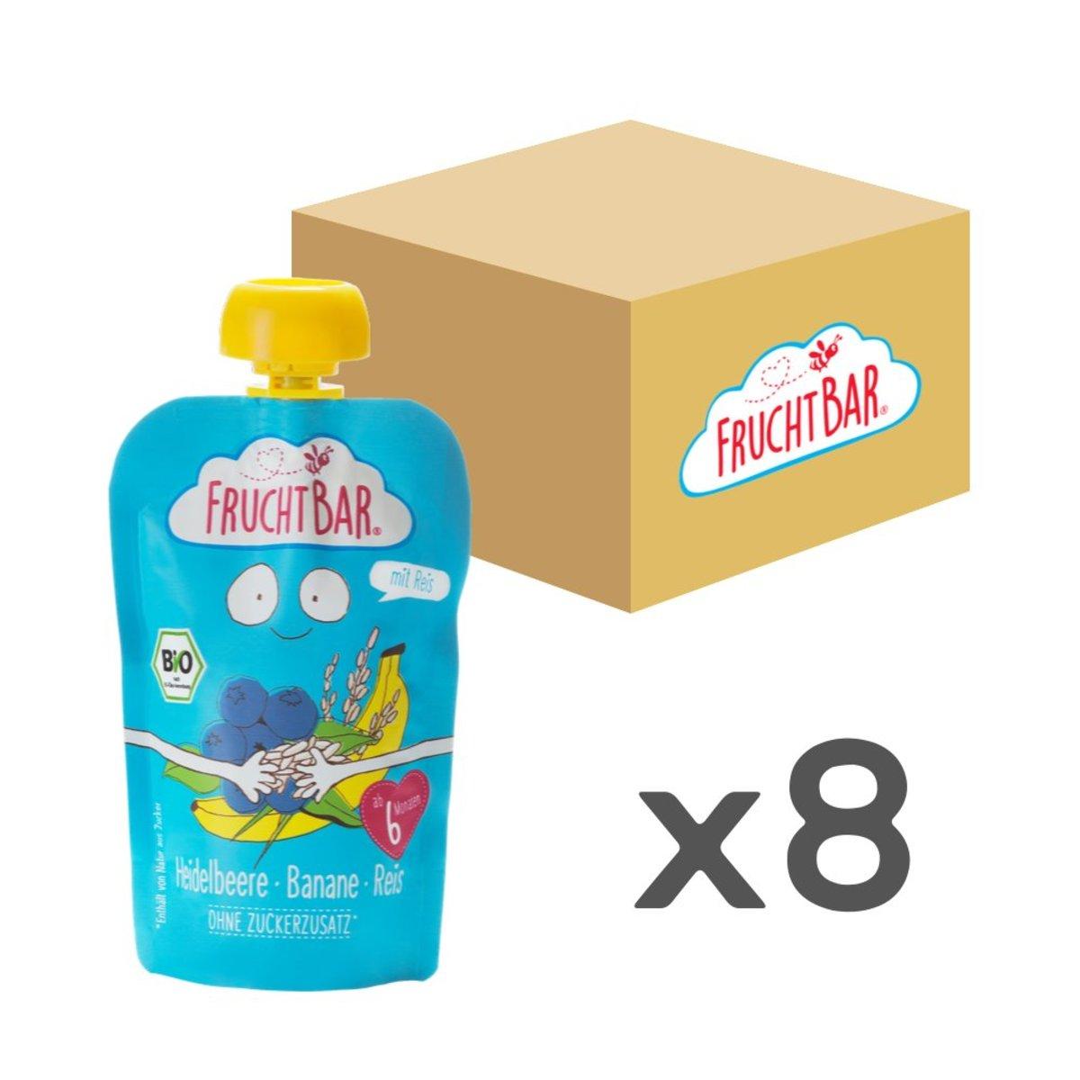 [原箱] 有機穀物果蓉 - 藍莓香蕉白米 100g x8