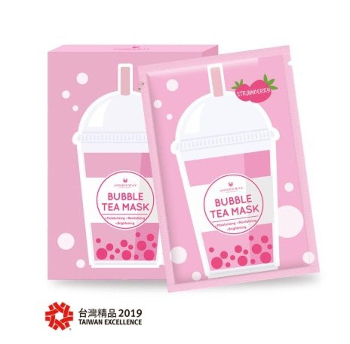 (淨白淡斑) 士多啤梨珍珠奶茶面膜[5片/盒]