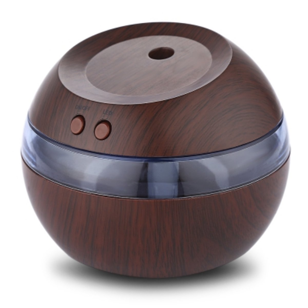 USB  Ultrasonic Humidifier with LED Light( DARK BROWN )