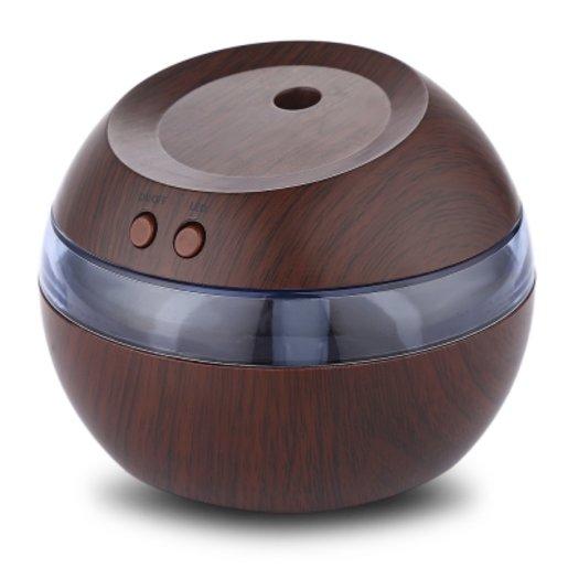 USB  Ultrasonic Humidifier with LED Light( DARK BROWN )