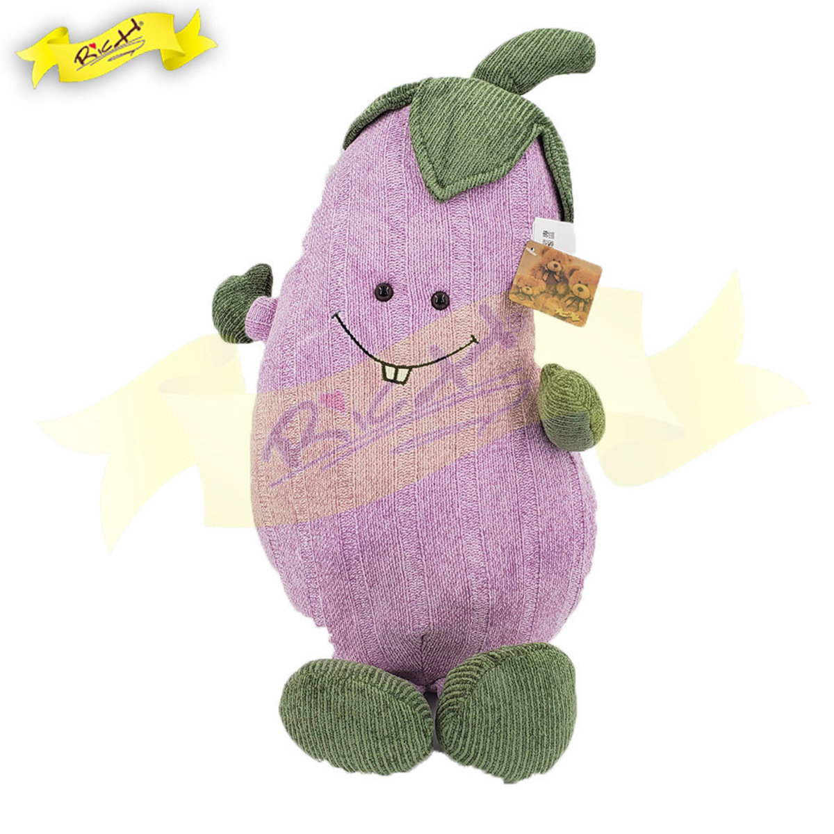 Chenille Knitted Egg Plant Pillow Cushion (62cm)