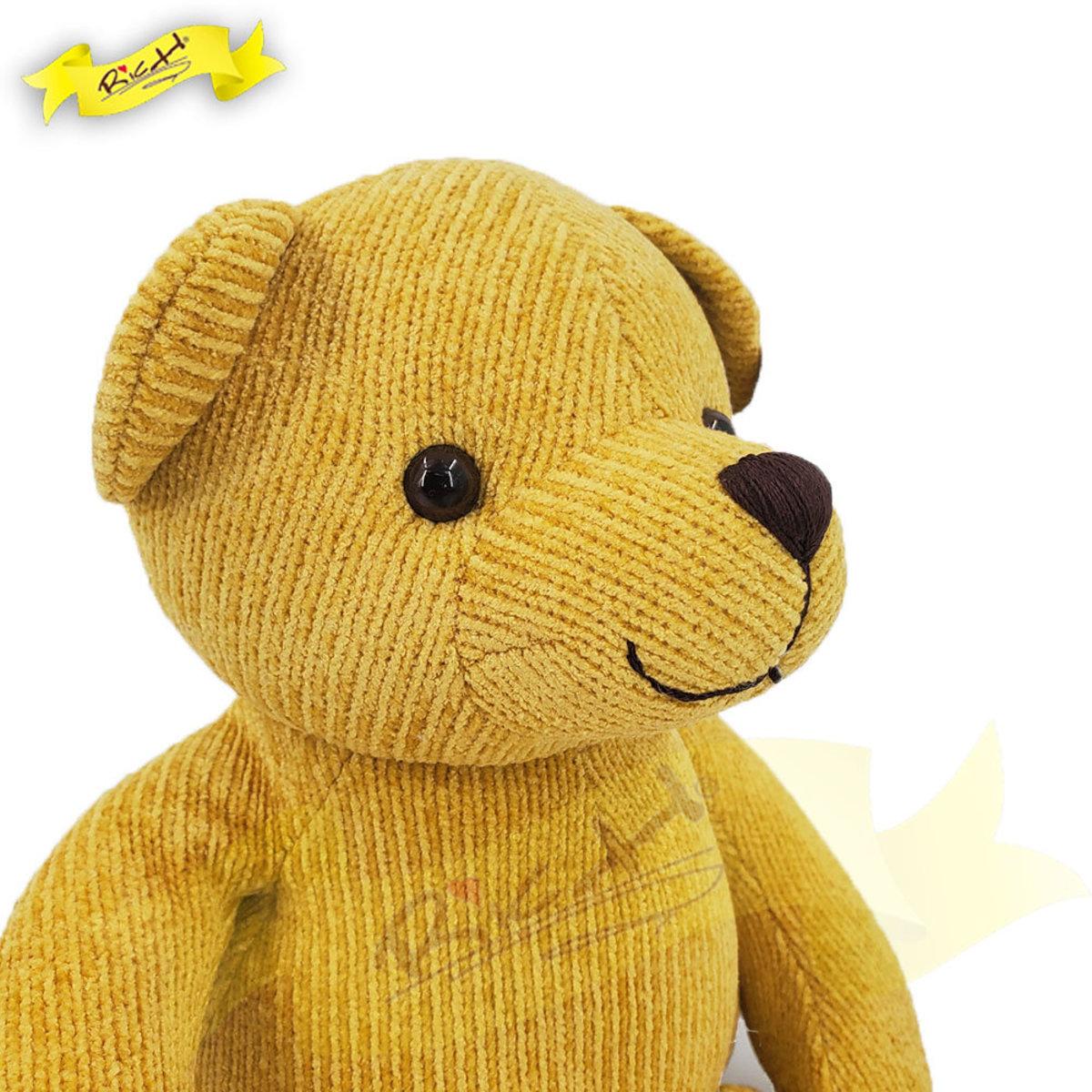 絲絨冷布熊公仔Teddy Bear 黃色 (43cm) - 6J1307K53