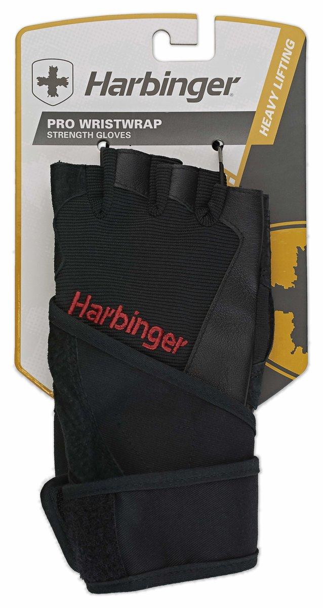 H114010 Pro WristWrap Gloves, Black, Size S