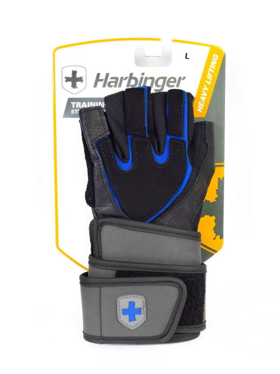 H125012 Training Grip Wristwrap Strength Gloves (Heavy Lifting), Size S