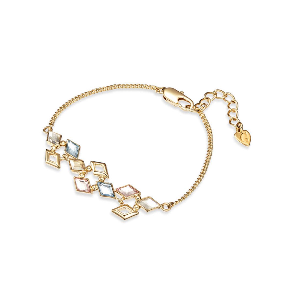 Glitter: 金色, 多色Swarovski 水晶石手鏈